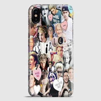 Niall Horan Heart Tshirt White iPhone X Case