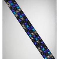 Triple Row Matte Black and Multi Anodized Stud Belt