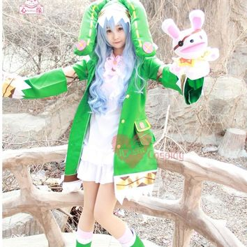 Free postage Hot Anime DATE A LIVE cos cartoon cute female Hermit Yoshino cosplay Halloween Elf clothing costumes sets