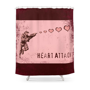 Society6 Heart Attack - Master Chief - Halo Shower Curtains