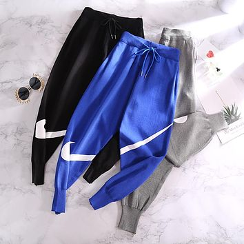 NIKE 2018 autumn and winter knitted nine pants trousers casual pants trousers F0843-1
