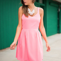 Criss Cross Roads Dress, Hot Pink
