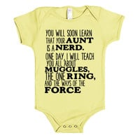 YOU WILL SOON LEARN YOUR AUNT IS A NERD