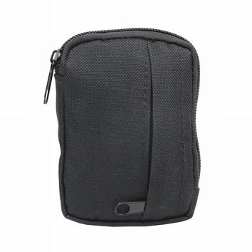 600D Nylon Military Molle Black Pouch Small Waist Belt Bag Wallet Pouch Purse for Camping Hiking Gadget Pack