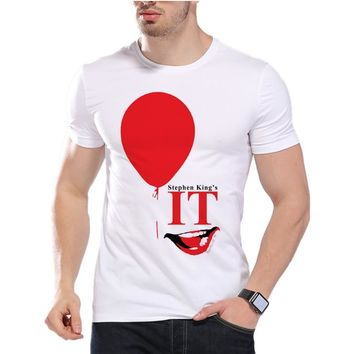 Stephen King's It T shirt Horror Cult Film Pennywise The Clown Obey Design Float Letter Harajuku Men Print T-shirt D7-4#