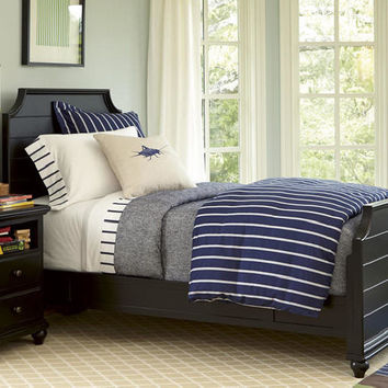 Mortimer Black Twin Size Panel Bed