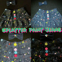 Girls Splatter Paint Jeans/ Skirts/ Shorts