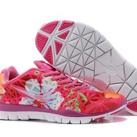 """Nike Free 5.0 TR Fit 3"" Women Sport Casual Bird's Nest Flower Print Breathable Barefoot Sneakers Running Shoes"