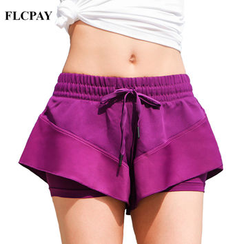 2017 New Brand FLCPAY Female Summer Sexy Outdoor Skirt Pants Three-dimensional Light Sports Shorts Yoga Fitness Tennis Shorts
