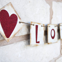 Wedding Banner Decoration Vintage Style Love for Party or photo prop
