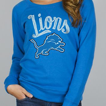 NFL Detroit Lions Field Goal Fleece w/ Embroidery - Women's Collections - NFL - All - Junk Food Clothing