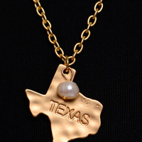 Texas State Necklace, Gold