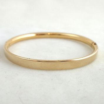 Vintage BALLOU 12K Gold Filled Baby Bangle Bracelet Engravable
