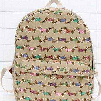PEAPIX3 Canvas Dogs Backpack = 4887555780