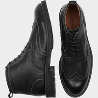 FLORSHEIM GAFFNEY BLACK WINGTIP BOOT