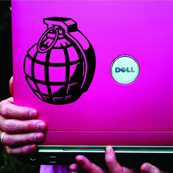 Hand Grenade Black Laptop Decal Sticker Vinyl Decal Sticker Art Graphic Stick...