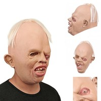 Novelty Latex Rubber Creepy Scary Ugly Baby Head The Goonies Sloth Mask Halloween Party Costume Decorations Latex Cyclops Mask