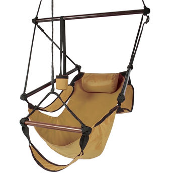 Best Choice Products Hammock Hanging Chair Air Deluxe Sky Swing Outdoor Chair...