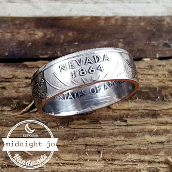 Nevada State Quarter Coin Ring