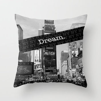 Dream NY Throw Pillow by Chase Keeling