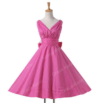 2015 plus size Maggie Tang vestidos 50s Vintage Retro Audrey Rockabilly Pin-up Women swing Polka Dots Summer Cotton Dress