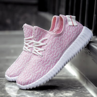 Stylish Light Pink Womens Sports running outdoor sneakers shoes