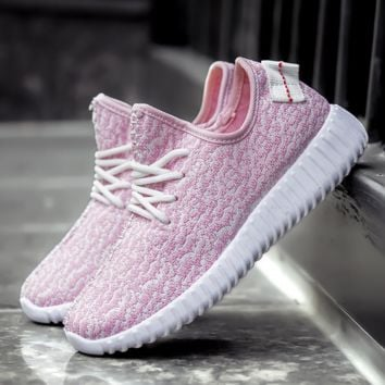Stylish Light Pink Womens Sports running outdoor Shoes