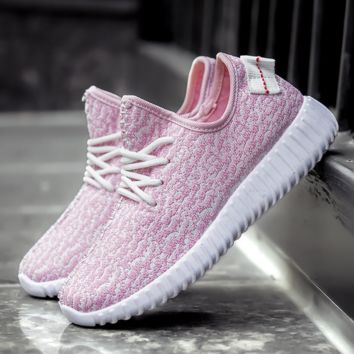 Stylish Light Pink Womens Sports Running Shoes