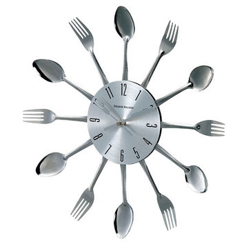 Control Brand 1234SPOON16(REMAIL) George Nelson by Verichron Metal Fork and Spoon Clock
