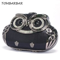 TOMBARBAR Luxury Handbags Women Bags Designer Bolsa Feminina Mini Clutch Bag owl Evening Bags Women Messenger Bags TM-EB201605