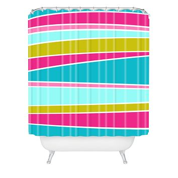 Caroline Okun Lily Pad Shower Curtain