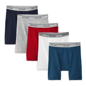 Boys' Assorted Color Boxer Briefs, 5 Pack