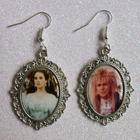 Labyrinth Inspired Cameo Earrings