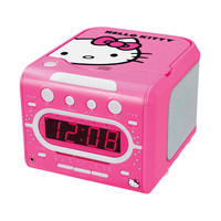 Hello Kitty AM-FM Stereo Alarm Clock Radio with Top Loading CD Player