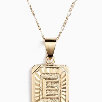 Gold Initial Necklaces
