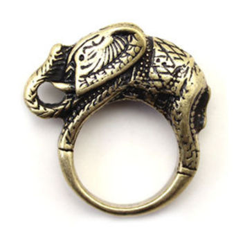 Vintage Gold Elephant Ring Fashion From Clothless On Storenvy