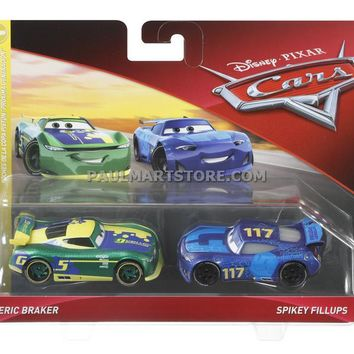 Cars 3 Diecast 1:55 Scale Movie Moments 2 pack- Eric Braker Spikey Fillups
