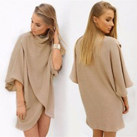 Blouses Tops Loose Fashion Outwear Clothing Autumn Women Lady Clothes Tops Oversized Batwing Sleeve