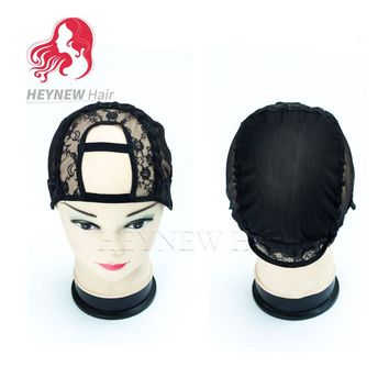 10PCS/Lot Free Shipping Cheapu Part Wig Caps For Making Wigs High Quality U Part Weaving Wig Cap Black Wig Hair Net