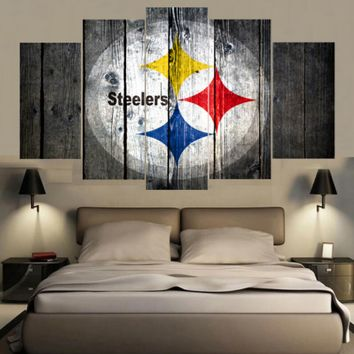 Pittsburgh Steelers 5 Piece Canvas