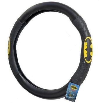 Black Batman Steering Wheel Cover