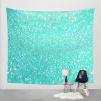sparkle sea Wall Tapestry by Haroulita