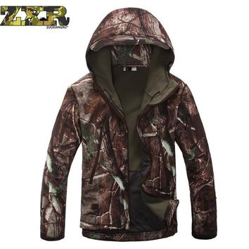 Lurker Shark Skin Soft Shell Military Tactical Jacket Men Waterproof Windproof Warm Camouflage Hooded Camo Army Clothing