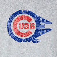 Chicago Cubs Star Wars Mashup millennium falcon Tee T-Shirt