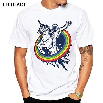 Newest Galaxy Space Printed Creative T shirt Unicorn Men's T shirt Summer Novelty Feminina Psychedelic Tee Clothes