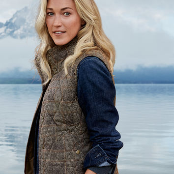 Women's Year-round Field Vest - Plaid | Eddie Bauer