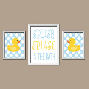 Duck Bathroom Wall Art CANVAS or Prints from TRM Design | Wall