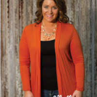 Simplicity Cardigan in Burnt Orange (Plus)