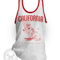 Vintage 60's California Surfer State American Apparel 2408 Tank Top A-Shirt from Tuffy McPuggles