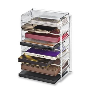 Acrylic Palette Organizer (Small Sized Palettes) & Beauty Care Holder Provides 8+ Space Storage | byAlegory Makeup Organizer - Walmart.com